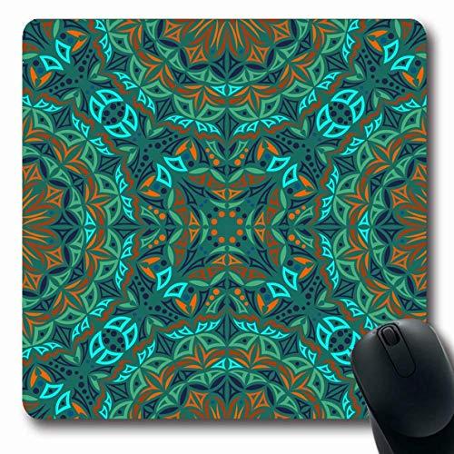 Mousepad Kaleidoskop Klassisches Muster Orientalische Teppichfliese Abstrakte Texturen Mosaik Damast Stilisierte Antike Büro Langlebige Mousepad Gummi Laptop Mausmatte Längliche S