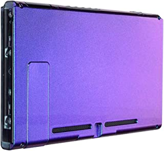 eXtremeRate Chameleon Purple Blue Glossy Console Back Plate DIY Replacement Housing Shell Case for Nintendo Switch Console...