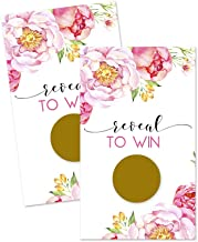 Floral Scratch Off Game Cards (28 Pack) Bridal Shower, Wedding, Baby Shower or Party