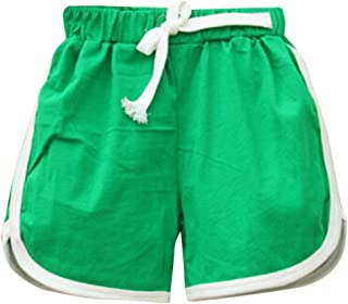 Zerototens Baby Sport Shorts,Infant Toddler Kids Boys Girls Candy Color Solid Hot Pants Beach Trunk Loose Short Pants Drawstring Summer Casual Holiday Short Trousers for 1-6 Years Old Baby