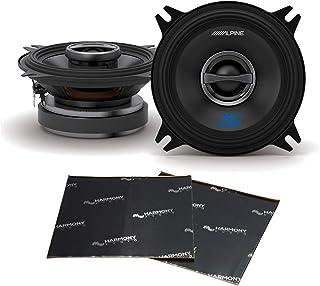 "$69 » Alpine S-S40 Car Audio Type S Series Speakers 4"" Coaxial 180W Speaker Pair Bundle with Harmony Audio Sound Dampening Speak..."