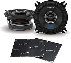 Alpine Type S Bundle S-S40 Car Audio Coaxial 180W Speaker Pair with Harmony Audio Sound Dampening Speaker Kit photo