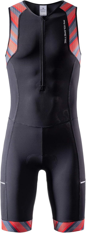 MY Discount mail order KILOMETRE Men's Triathlon Sale special price Tri Suit with Side Tr Pockets 2 Big
