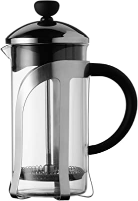 Safdie & Co. Barista Plus Pot, Percolator, Glass,Tea, Travel French Press,Filter Coffee Maker, 350ml, Transparent