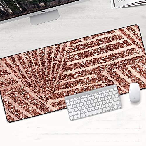 YMYGCC Alfombrilla De Ratón 900x400x2mm Oro Blanco Mármol Teclado Estera Estera Durable Escritorio Mousepad Caucho Anti Deslizamiento Gaming Mouse Pad Computer Acesorios 68