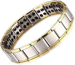 Mens Magnetic Bracelet, Titanium Therapy Bracelets for Men Healthy Sleek Cuff Wristband for Relief Pain with Free Link Rem...