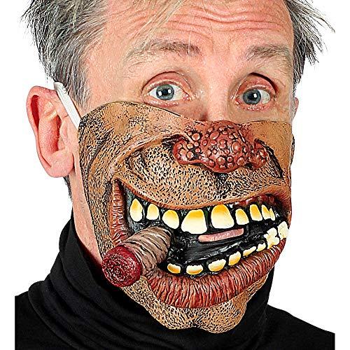 Widmann 01159 Biker Halbmaske für das untere Gesicht, Herren, Braun, Einheitsgröße