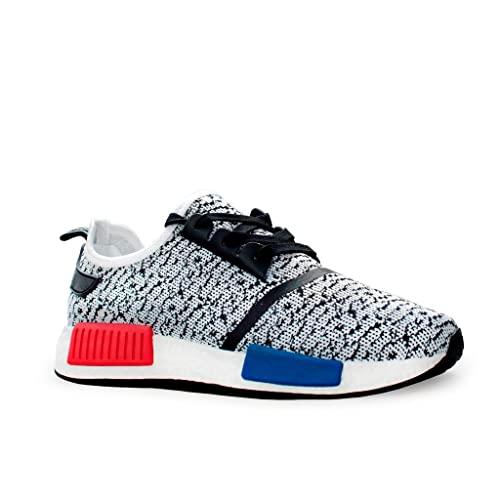 38699ea848c68 New Womens Girls Boys Mens Black Black Yeezy nmd Inspired Fitness Unisex Trainers  Boost Running Casual