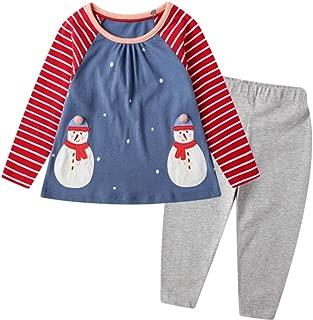 Toddler Baby Girls Clothing Set Cute Print Long Sleeve T Shirt and Pants 2pcs Outfits