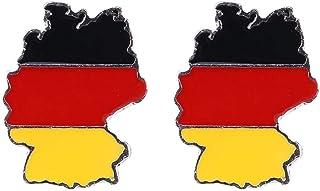 Amosfun Anstecknadeln mit Deutscher Flagge für Männer und Frauen, patriotische Party-Gastgeschenke