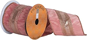 "Vickerman Ribbon, 4"" x 10yd, Pink"