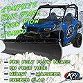 """RPM KFI UTV 72"""" Poly Snow Plow Kit Combo Kawasaki Mule PRO-FXT DXT FX DX 2015-2020"""