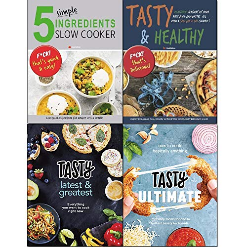 Tasty Ultimate Cookbook [hardcover], Tasty Latest and Greatest [hardcover], Tasty & Healthy, 5 Simple Ingredients Slow Cooker 4 Books Collection Set