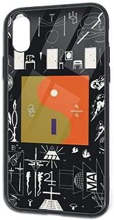 ThomasCGaona Bon IVER Fashion Personalized iPhone X/XS Soft TPU Tempered Glass Back Shell Case