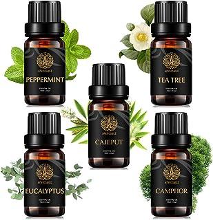 100% Pure Camphoraceous Essential Oil Kit, Therapeutic Grade Eucalyptus Oil Set for Diffuser, 5x10ml Aromatherapy Camphor ...