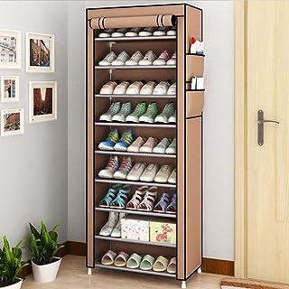 Cabinet de chaussures anti-poussière Porte-chaussures à 10 niveaux 30 paires de chaussures de chaussure Chaussures Chaussu...