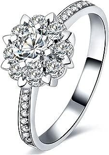 2018 Newest Women's 925 Sterling Silver Eight Heart Eight Arrows Diamond Ring