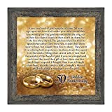 Crossroads Home Décor 50th Wedding for Parents, 50th Anniversary Decorations for Party, Golden Anniversary 50 Year Gifts, 50th for Couples, Gift add to Your 50th Anniversary Card 8608BW