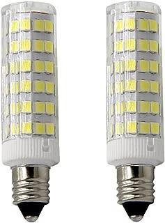 xiaominilight E11 Base 50W Light Bulb, LED Mini Candelabra Bulb,Daylight,JD T4 Bulb,120 Volt,550LM,Clear Light Bulb (Pack of 2)