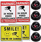 📦 𝐖𝐡𝐚𝐭𝐬 𝐈𝐧 𝐓𝐡𝐞 𝐁𝐨𝐱 𝐈𝐧𝐜𝐥𝐮𝐝𝐞𝐝 – 2 Installing screws; 8 surveillance signs and 4 fake security cameras with mounting tape and screws; 1 User Manual. This creates the illusion of an all-seeing eye. 🛠️ 𝐄𝐚𝐬𝐲 𝐈𝐧𝐬𝐭𝐚𝐥𝐢𝐭𝐨𝐧 - Install fake cameras quickly and ea...