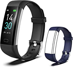 [2020 New Version] Fitness Tracker, Activity Tracker Watch with Heart Rate Monitor, Message Notification,IP68 Waterproof Calorie Counter, Pedometer Watch with Connected GPS for Android & iPhone