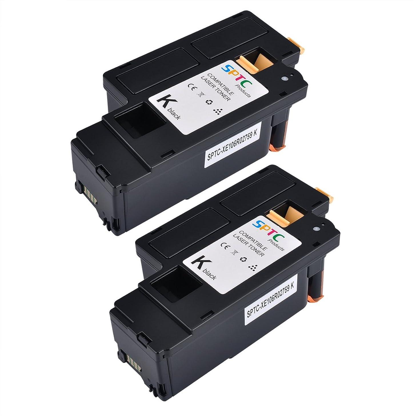 SPTC High Yield Compatible Phaser 6020 6022 6022/NI WorkCentre 6025 6027 6028 Toner cartridges 2 Pack Set 106R02759 Black