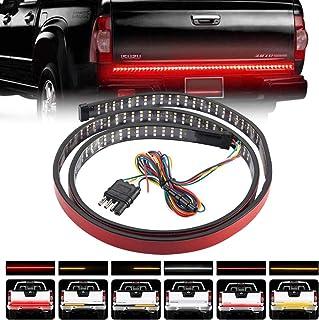Teguangmei 121,9 cm LED Heckklappenlichtleiste, rot/bernsteinfarben/weiß, 432 LEDs, dreireihig, mit 4 Wege Flachsteckerdraht, rote Bremse, bernsteinfarben, weißes Rückfahrlicht für Pickup, LKW, SUV