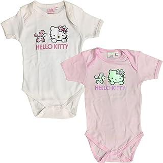 2 x Rosa-wei/ßes Shirt Hello Kitty