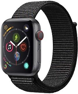Apple Watch Seires 4 44mm (GPS + Celular) - Caja De Aluminio En Gris Espacial / Negro Correa Loop Deportiva (Reacondicionado)