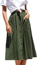 Best midi skirt button front Reviews