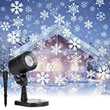 Christmas Projector Lights Outdoor: Led Snowflake Projector Lights Waterproof Plug in Moving Effect Wall Mountable for Halloween Christmas Holiday New Year Indoor Home Party Decoration Show
