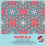 Libro de colorear para adultos Mandala - Todo el mundo necesita una casa para vivir, pero una familia que apoya es lo que construye un hogar.
