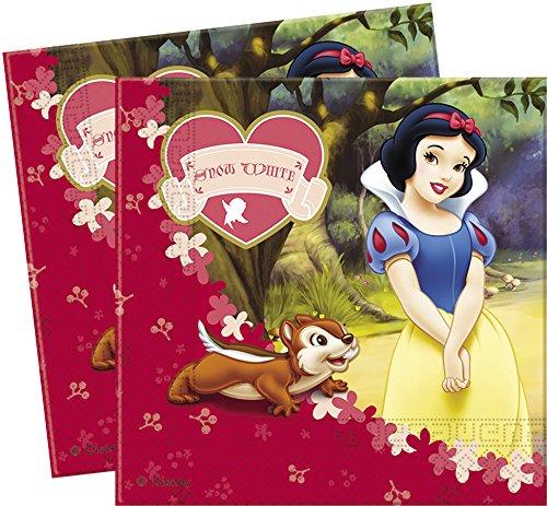 Disney Amscan Blanc Neige/Déjeuner Serviettes en Papier