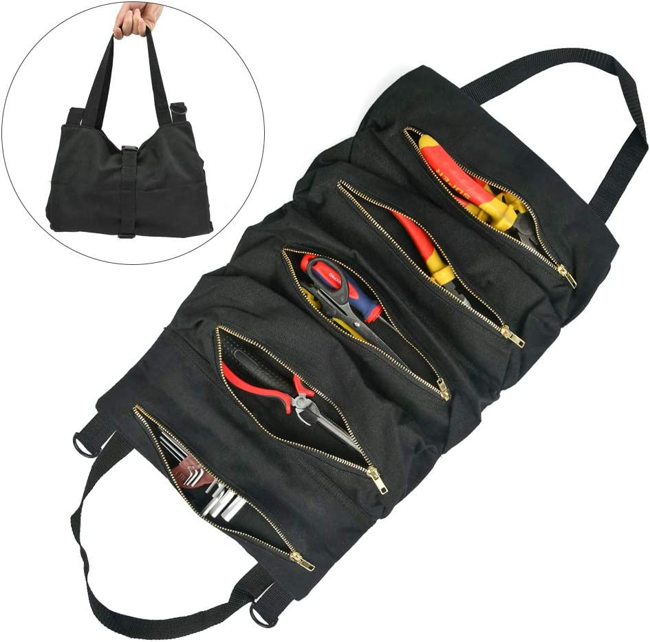 OFNMY Canvas Tool Roll Mail order Organizer Organ Bag Up Wrench Max 70% OFF