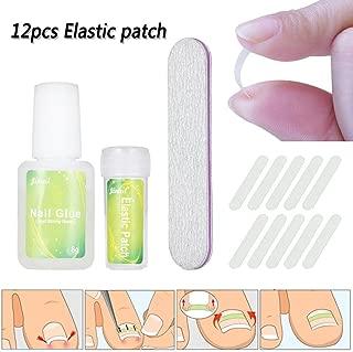 ZHUOTOP Ingrown Toenail Correction Tool Set Nail File Elastic Patch Straightening Clip Nail Glue Toe Nail Care Pedicure Tool 12pcs #01