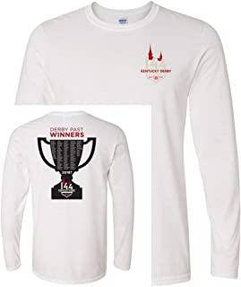Mens 144 Logo T Shirt, LS, Past Winners Trophy, Officially Licensed