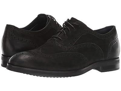 Cole Haan Lewis Grand 2.0 Wing Tip Oxford (Black) Men