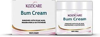 Kozicare Bum Cream with Glutathione, Niacinamide& Kojic Acid- 50gm