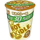 マルちゃん ホットヌードル 塩分オフ 旨みカレー味 78g×12個