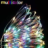 LEDイルミネーションライト 100電球 50電球 20電球 10m 5m 2m 点滅 点灯 電飾 飾りライト USBコンセント式 防水 屋外 室内 正月・祝日・結婚式・パーティー・クリスマス・ハロウィン・誕生日 9色 (カラフル, 5m)