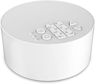 White Noise Machine -Absone Sleeping Sound Machine for & Relaxation -Fan Sound -Plug in Or Battery Powered - Portable Sleep Therapy with Speaker for Home, Office or Travel (Sleep Noise Machine)