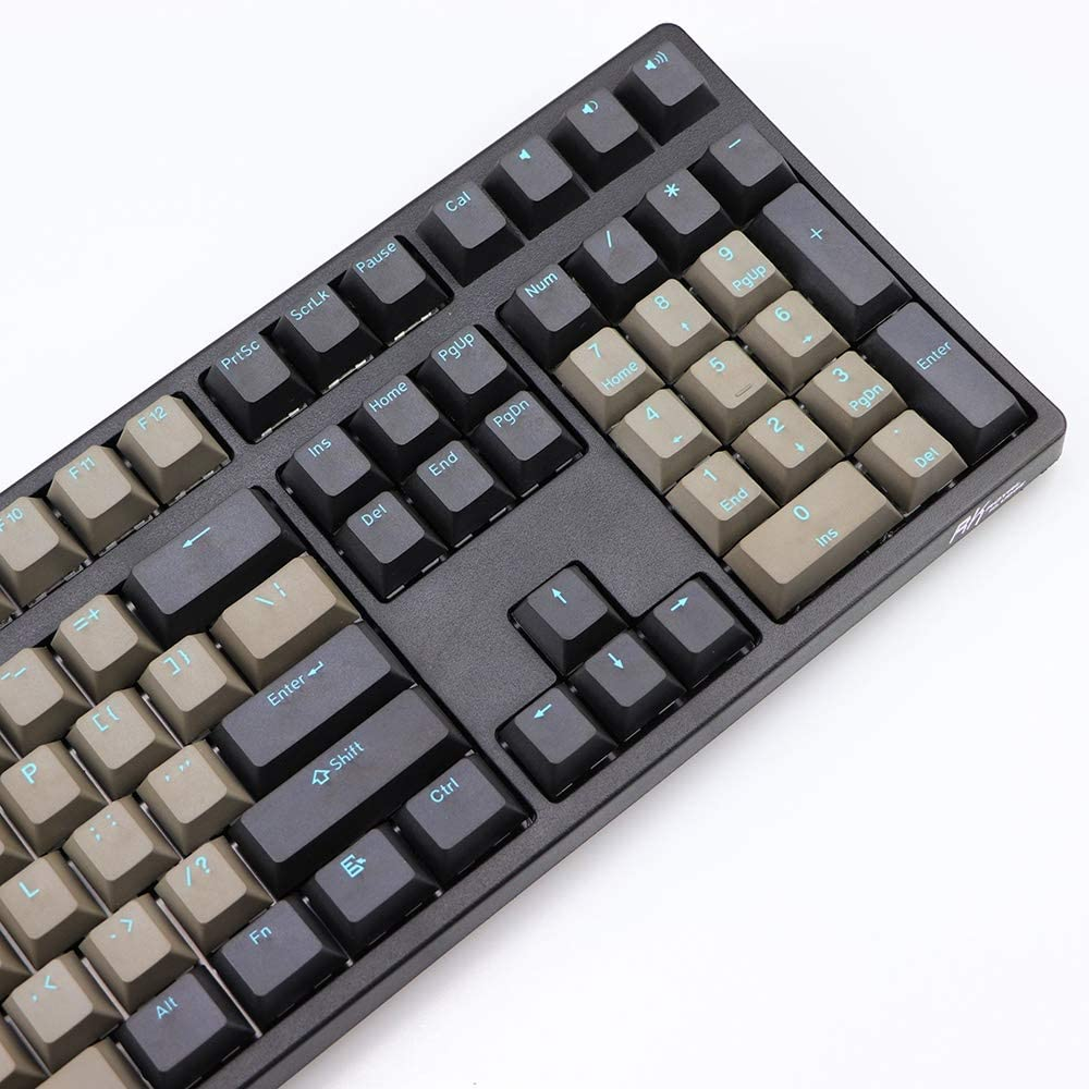Color : 87 Keys HUOGUOYIN Gaming Keyboard Dark Gray Color Mixing PBT keycap Cherry Item 10887 Blue MX Switch for The Keyboard keycap keycap Keyboard