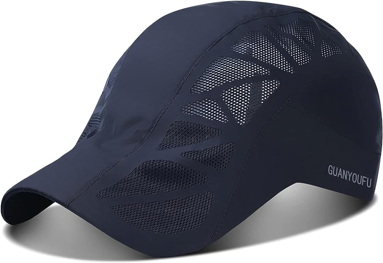Adikamiet Men's Black Baseball Cap, Breathable Mesh Cap