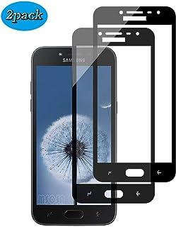 MSOSA [2-Pack] Samsung Galaxy J2 Pro 2018 Cristal Templado, Protector de Pantalla de Vidrio Templado e inastillable [Alta Transparencia] [Anti-Oil] [Anti-Scratch] [AntiFingerprint].
