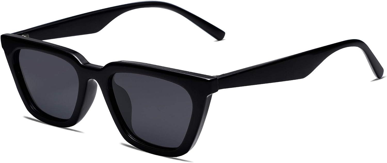 SOJOS Small Polarized Narrow Square Cateye Sunglasses for Women Retro Trendy Glasses SJ2169
