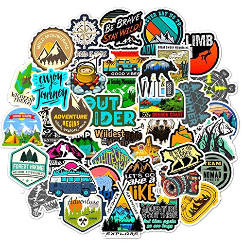 Dacitiery 50PCS Outdoor Travel Personalized Graffiti Stickers, Stickers For Luggage, Bicycle Skateboard Stickers, DIY Waterproof Stickers