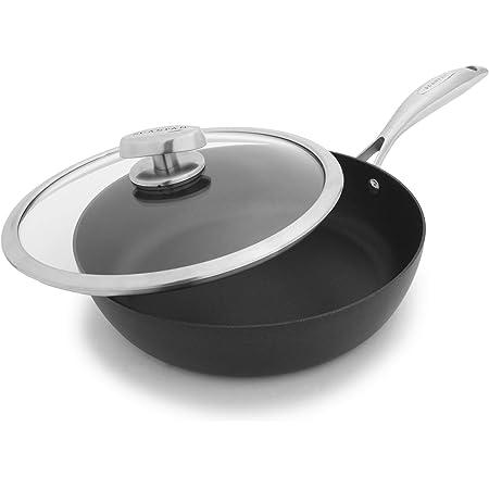 Scanpan PRO IQ Nonstick Covered Saute Pan, 2.75 quart, Black