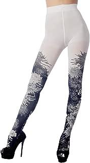 iB-iP Women's Fairview daisy prints seamless stocking Mid Waist Pantyhose Tights