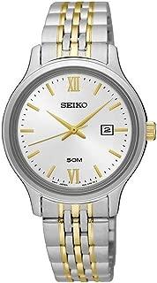 Seiko Women's 30mm Two Tone Steel Bracelet Steel Case Quartz Silver-Tone Dial Analog Watch SUR705P1