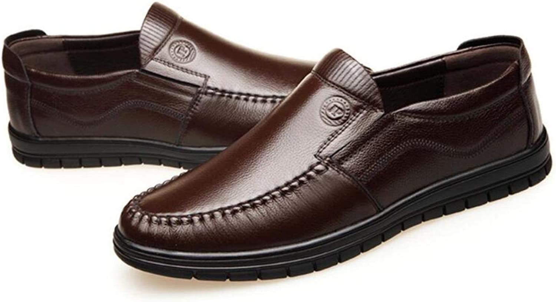 WLFHM Herbst-Herrenschuhe Leder Komfort-Fu-Vater Schuhe